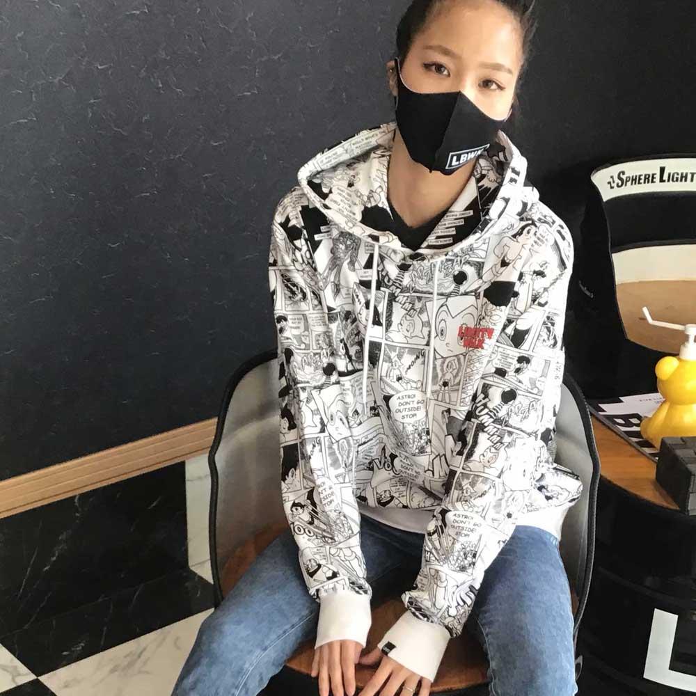 LBWK×atom comic hoodie