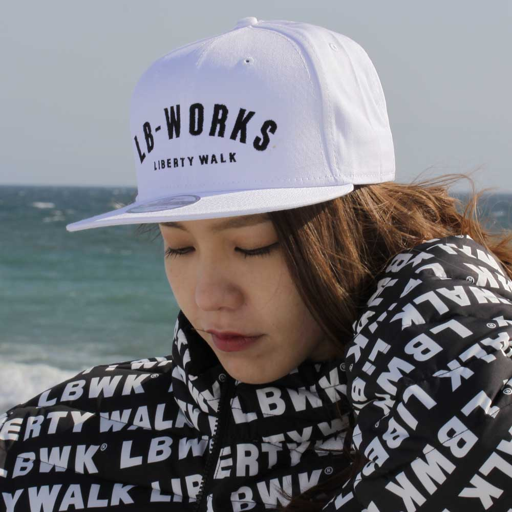 LB-WORKS logo cap White